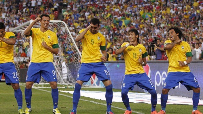 Samba goal celebration: expect to see a lot of these when Brazil scores