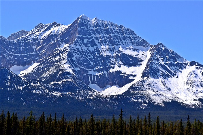 Serrated peaks of the Canadian Rockies