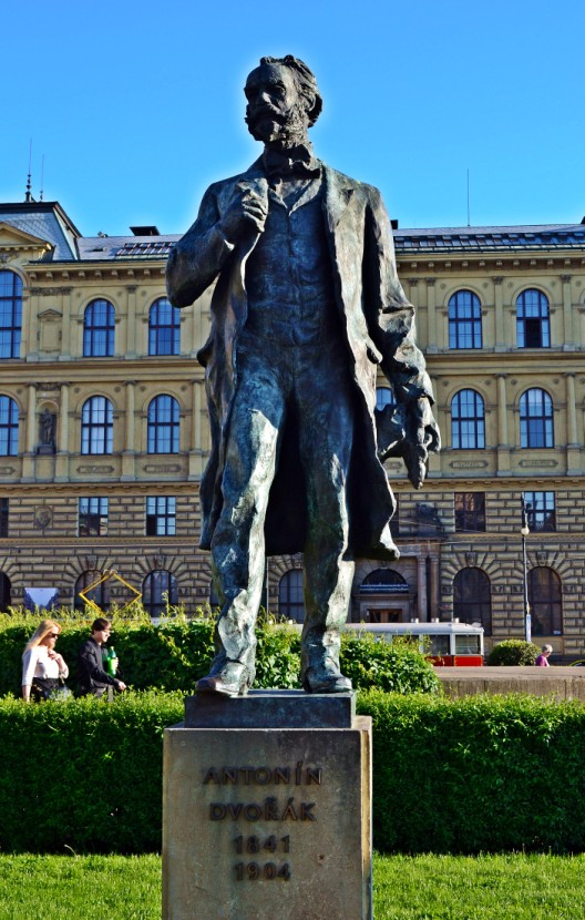 Statue of Antonin Dvorak, greatest Czech composer