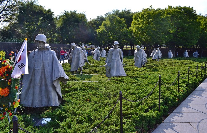 Statues of the Korean War Memorial