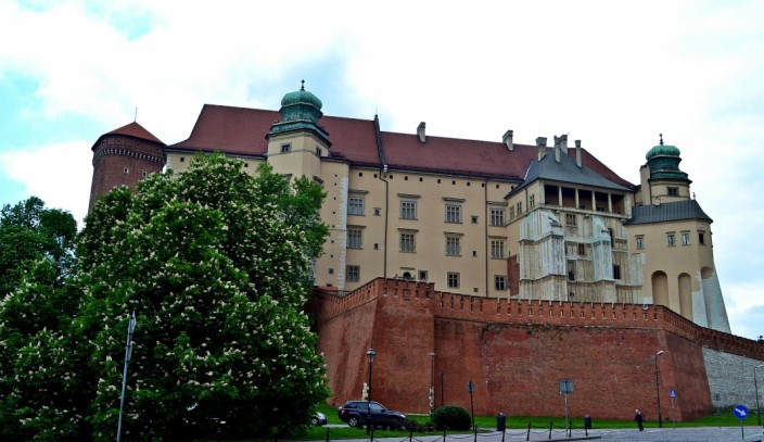 Street view of the Castle from outside the walls
