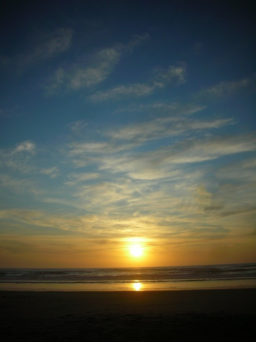Sunset on the beach, Oregon Dunes