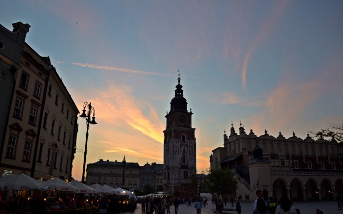 Sunset over Krakow's Stare Miasto