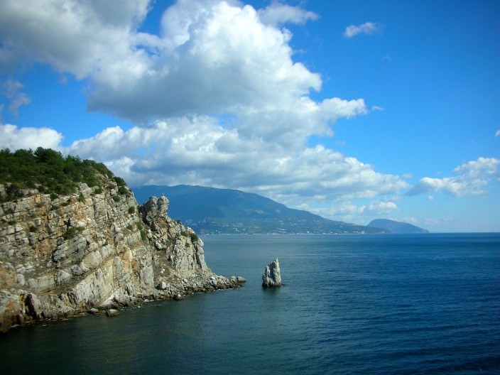 The Black Sea coast of Crimea near Yalta