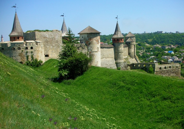 The castle of Kamianets-Podilskyi