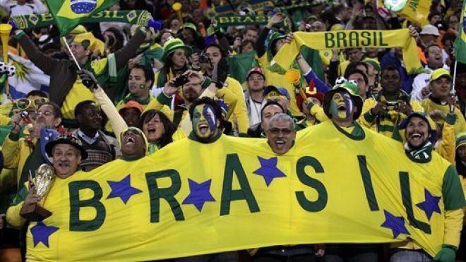 The colorful and passionate fans of the Selecao, Brazil's national team