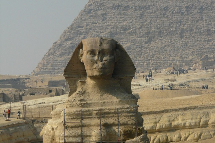 The corrosion of centuries on the Sphinx