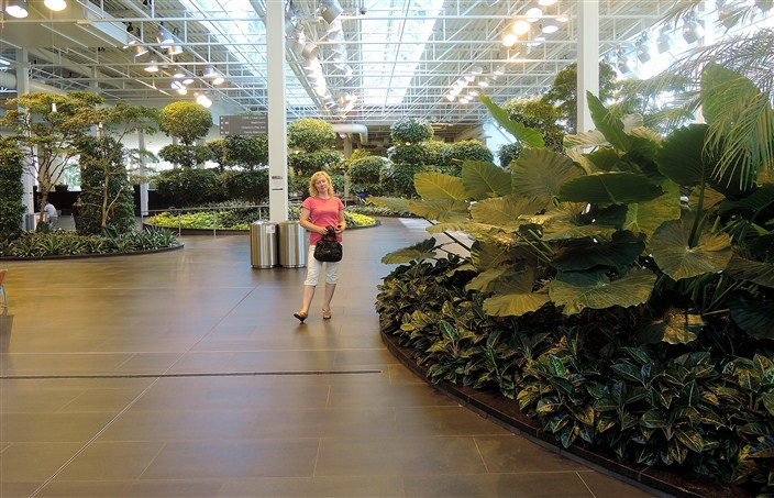 The Devonian Gardens, fourth floor indoors