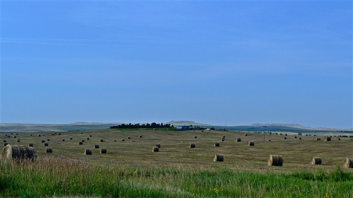 The endless open fields of the Dakotas