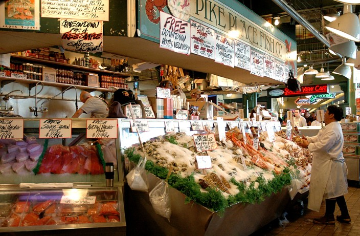The famous flying fishmongers of Pike Place Market