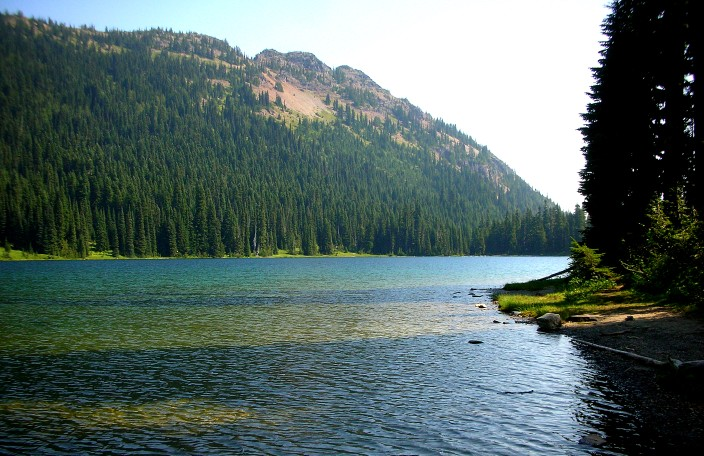 The larger of the twin Dewey Lakes