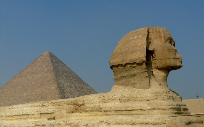 The mighty Sphinx and pyramid, timeless symbols of Egypt