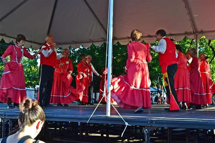 The Red Brigade - my name for them, not theirs, but these old folks had some moves