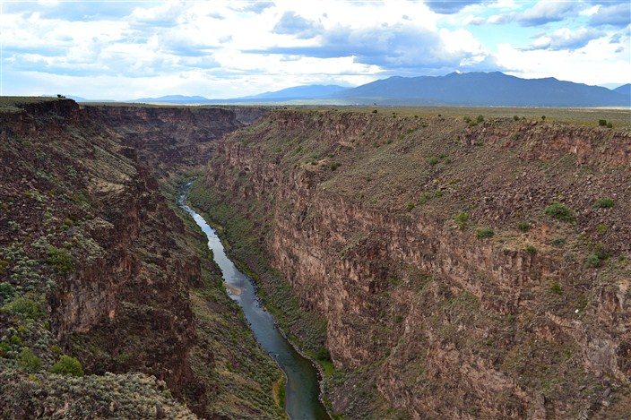 The Rio Grande Gorge west of Taos