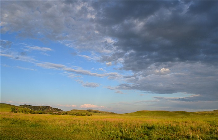 The rolling grasslands of Custer Stare Park