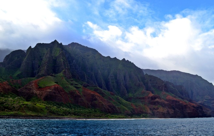 The spectacular Napali Coast