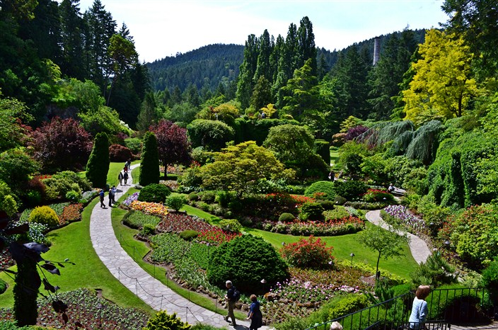 The Sunken Garden seen from overlook