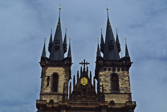 The twin steeples of Tyn Church