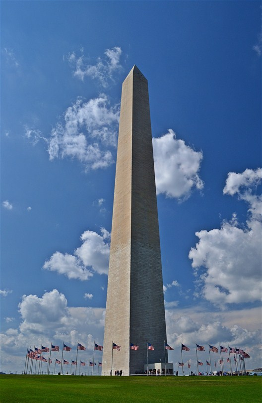 The Washington Monument, all 555 feet of it