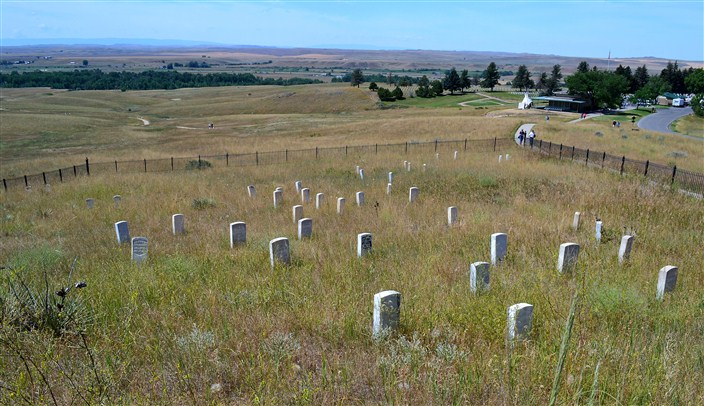 View from top of Last Stand Hill, the last view Custer and his men ever saw