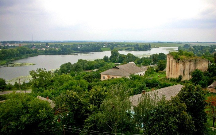 View of the river from Medzhybizh tower