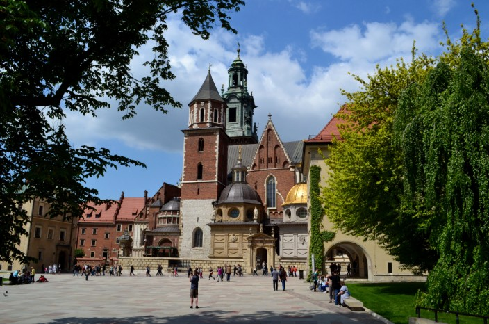 Wawel Cathedral in the sun