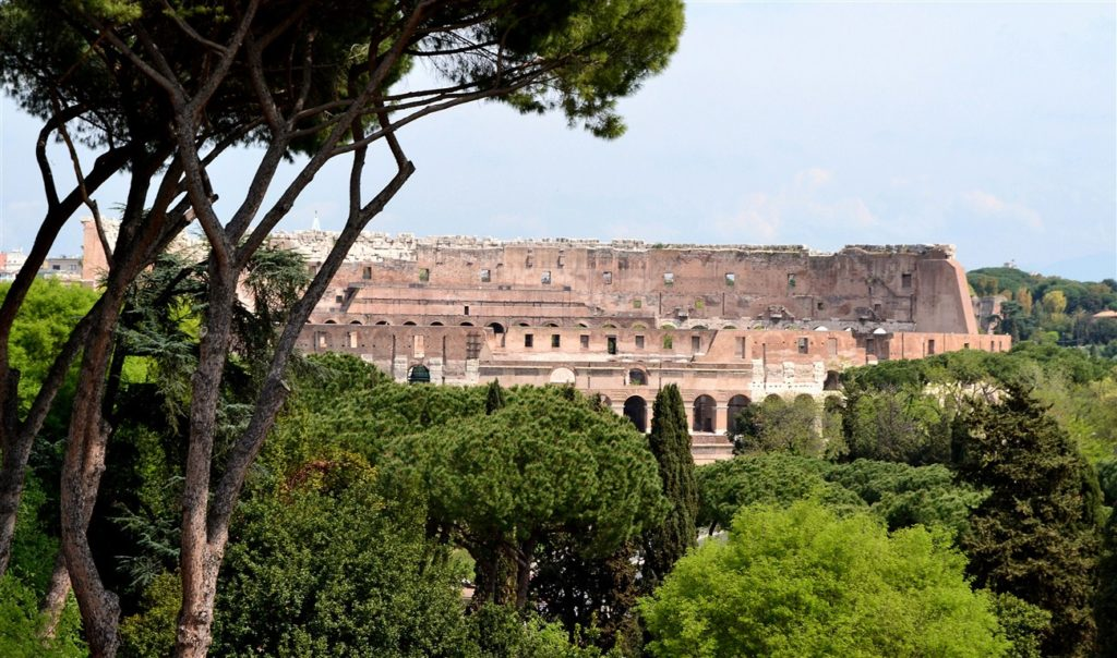 The Colosseum seen from Palatine Hill